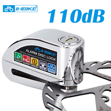 Велосипед сигнализация тормозного диска замок безопасности 110 дБ громкий безопасности мотоцикл сигнализация противоугонной блокировки водонепроницаемый велосипедный замок
