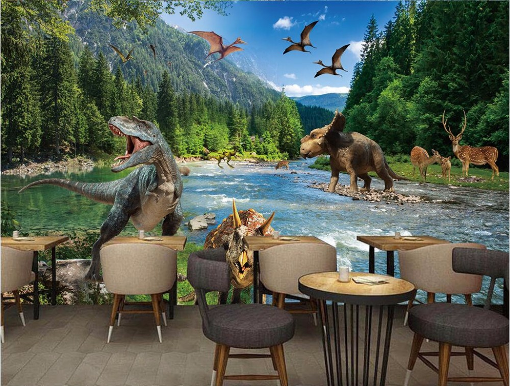WDBH custom mural 3d photo wallpaper large Jurassic period on the wall home decor picture 3d wall murals wallpaper for walls 3 d 3d wall murals wallpaper for living room walls 3 d photo wallpaper sun water falls home decor picture custom mural painting