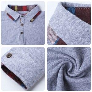 Image 5 - ARCSINX Polo Shirt Men Plus Size 5XL 4XL 3XL  XXL Spring Long Sleeve Polo Men Polo Shirt Autumn Cotton Winter Casual Mens Polos