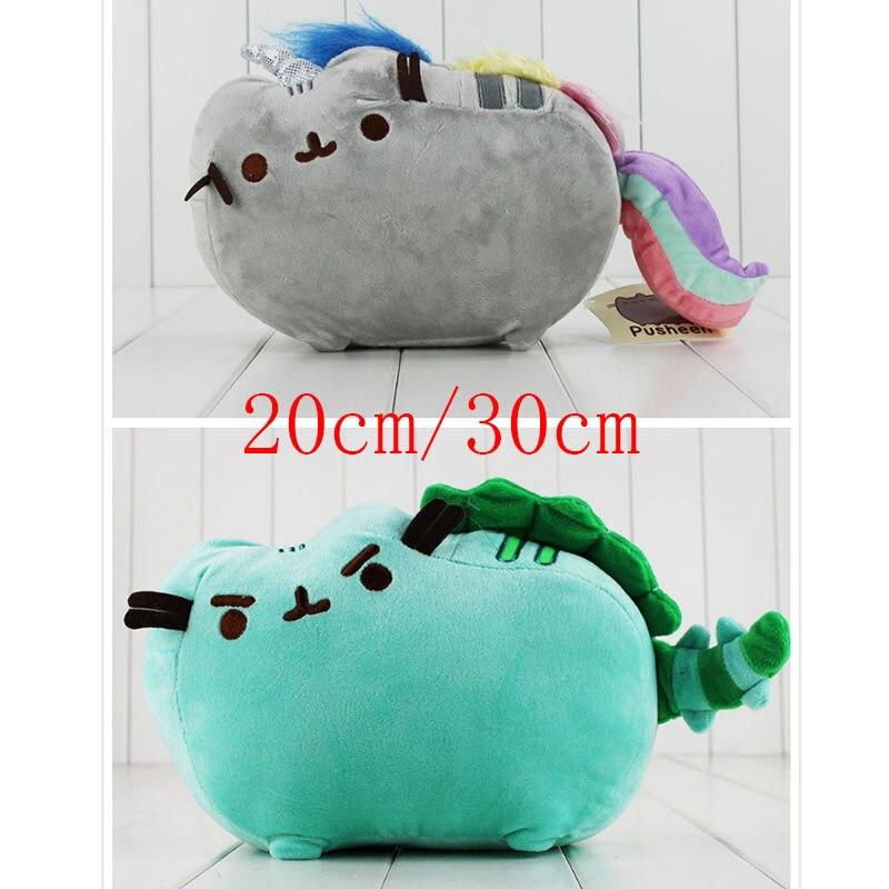 2Size Pusheen Cat Cos Unicorn Pusheenosaurus Dinosaur Dino Mint Cushion Plush Kawaii Animal Rainbow Cute Toy