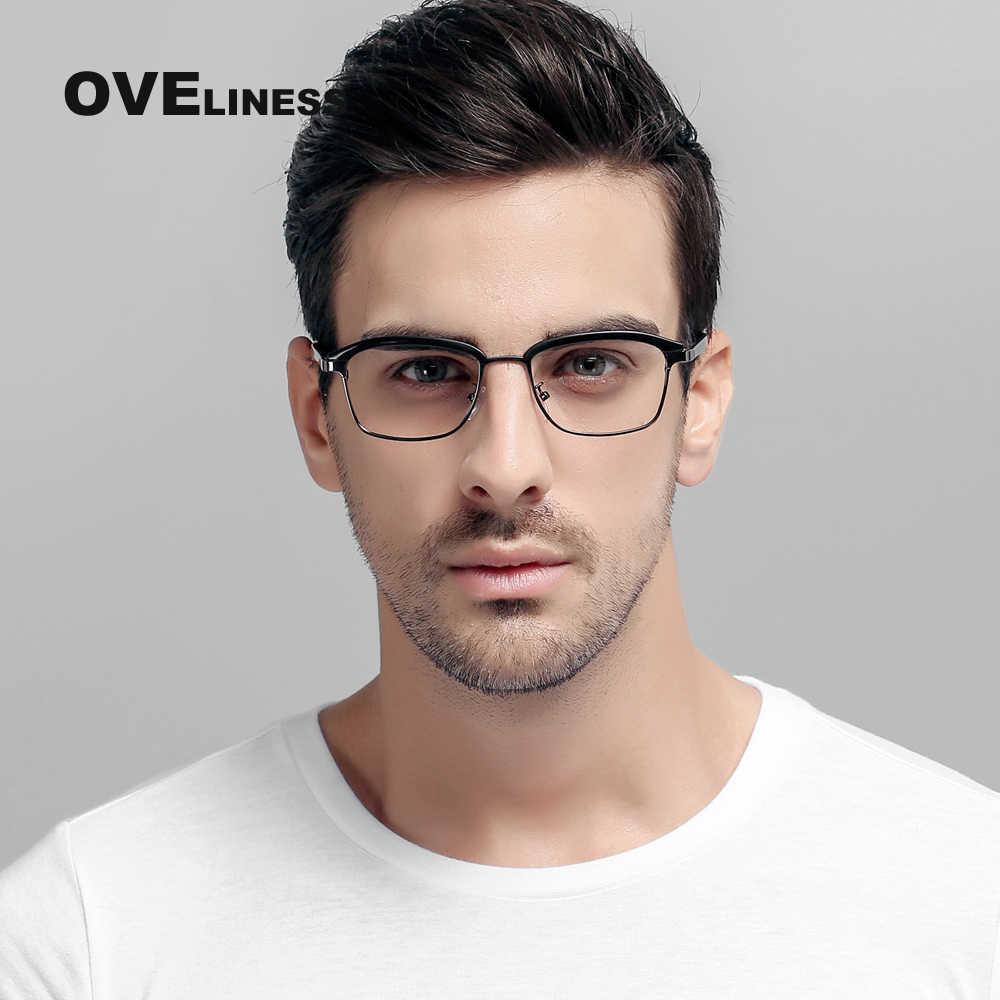 d2aa87cb904ba TR90 Eyeglasses Frames Man Optical Half Frames for Women Reading Glasses  Clear Lens myopia Prescription spectacle
