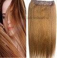 #8 castaño brwon Cabeza Completa 1 unids conjunto cabeza llena Brasileña remy Virginal extensiones de cabello humano clips en/en 26 colores disponibles