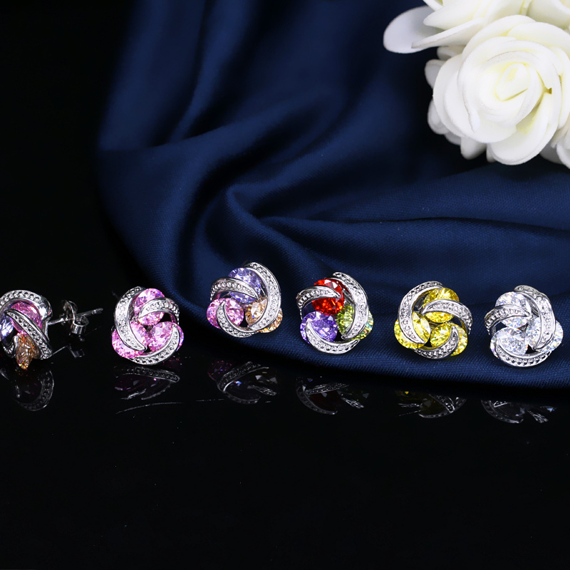 Crystal Stud Earrings3