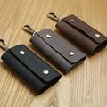 LANSPACE fashion men's leather key wallet brand car key case handmade key chain