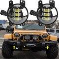 """2 unids 4x4 Off-road 4 """"pulgadas 30 W LED Luz de Niebla Para Jeep Wrangler JK CJ TJ Hummer de Alta Potencia LED de Niebla Auto de la Lámpara DRL de Conducción luz"""