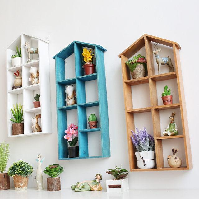 Online Shop Vintage Home Decor Vintage Wall Shelf Bookcase/Hanger ...