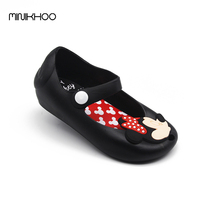 2016 Brazil New Mini Melissa Shoes Mickey Minnie Girls Shoes Crystal Jelly Sandals Children Fish Head