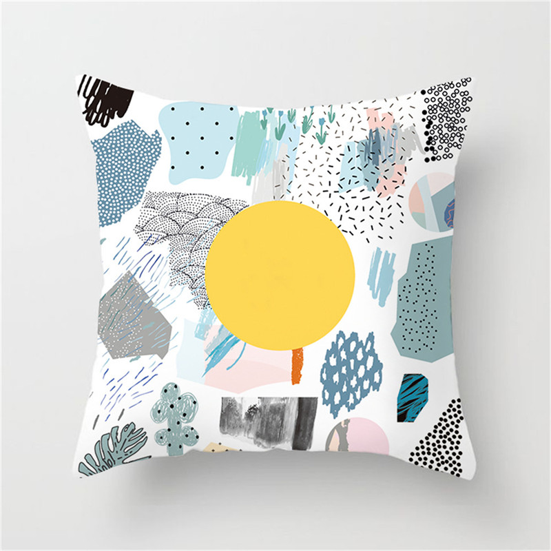 Fuwatacchi Cactus Series Green Plant Print Cushion Cover Tree Pillow Cover Car Home Bedroom Decorative Pillowcase 45 45 in Cushion Cover from Home Garden