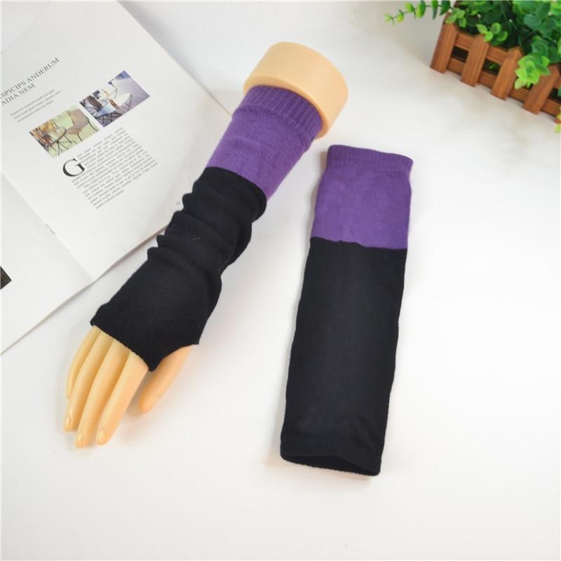 Arm Warmers Women  Patchwork Half Finger Lengthen Sleeve Crochet Knitting Womens Thicker Ladies Elegant Harajuku High Quality