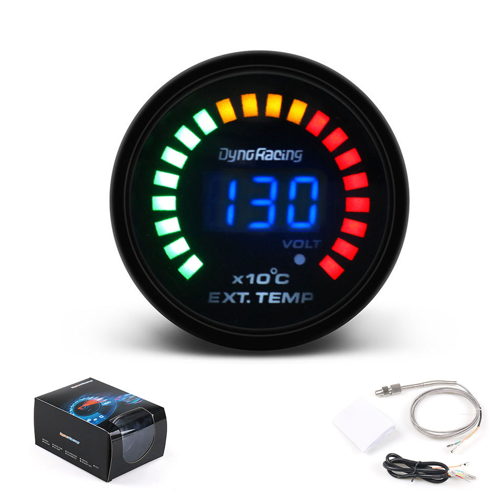 Dynoracing 2inch 52MM Digital 20LED Exhaust Gas temp Gauge Auto Car Styling EGT EXT Temperature Gauge Car meter|car meter|car styling|gauge auto - title=
