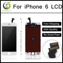 10pcs Quality AAA No Dead Pixel for IPhone 6  LCD Display Touch Screen 4.7 inch Digitizer Assembly Replacement Black or White