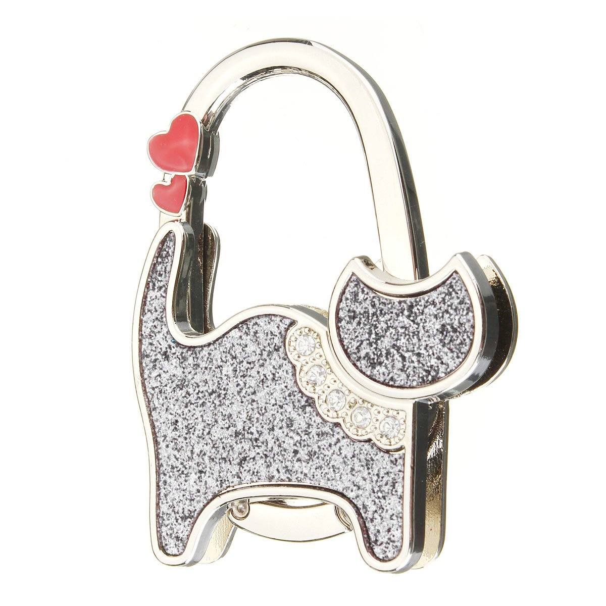 TEXU beautiful cat compact handbag holder Hanger Bag Holder white beautiful darkness