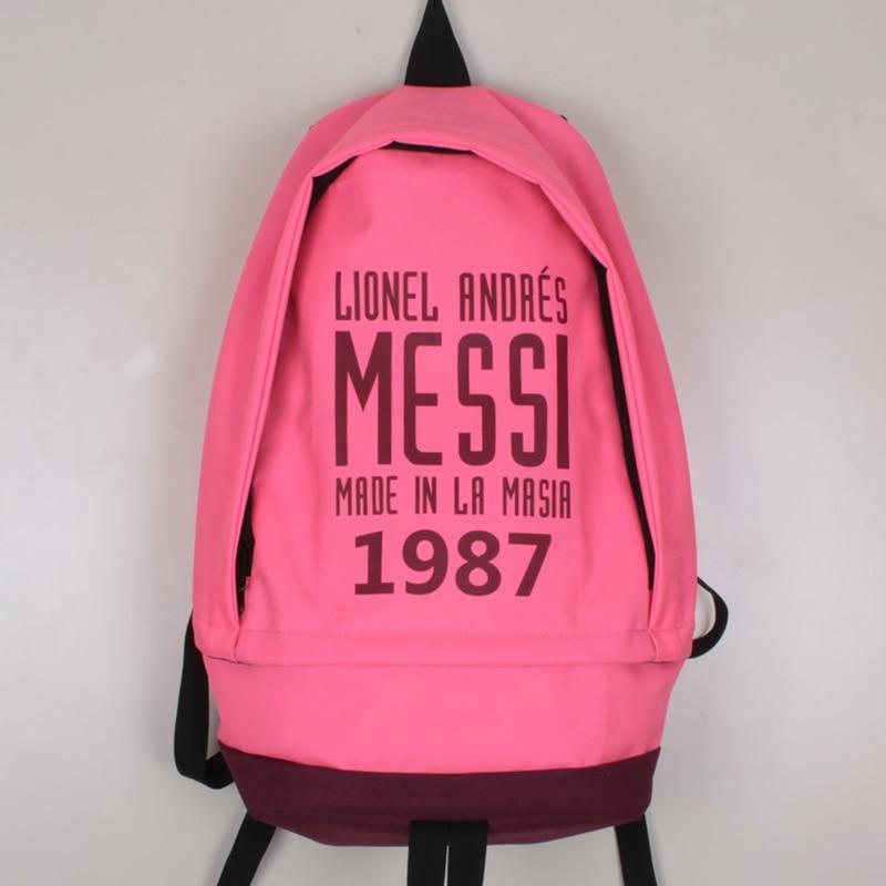 Nueva Moda Messi Foot Ball Mochila de Lona Niños Niñas Bolsa - Mochilas