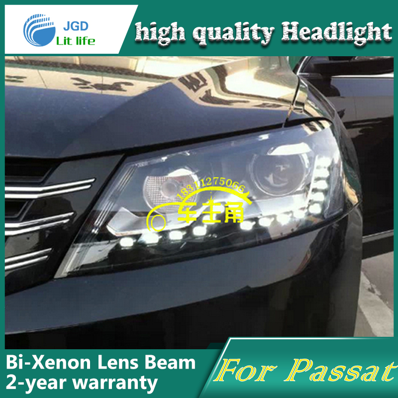 high quality Car styling case for VW passat 2011-2013 Headlights LED Headlight DRL Lens Double Beam HID Xenon Car Accessories сетка bearpaw 3мx6м 6004810