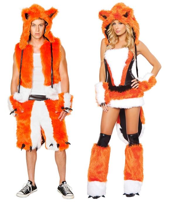 Free  Drop Shipping Adult Sexy Fox Costume For Men Women -2441