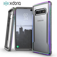 X Doria Defense Shield Phone Case For Samsung Galaxy S10 Plus Military Grade Drop Tested Protective Case For S10e Aluminum Cover