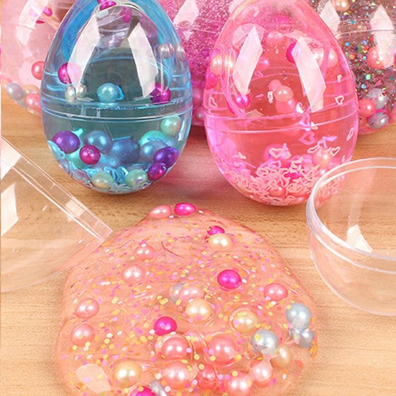Shiny Sludge Egg Colorful Soft Slime Scented Stress Relief Toy Sludge Toys For Children Gift Novelty Gag Toys Practical Joke