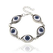 Винтажный Браслет joyeria de moda 5 с яркими глазами крутой