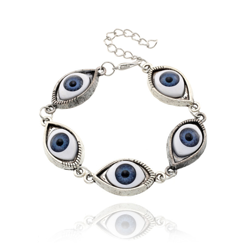 Vintage Joyeria De Moda 5 Bright Eyes Pulsera Cool Brazaletes Cadena Angel Eyes Bracelet Punk The Devil Eyes Charm Bracelts ...