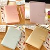 New Macaron Hollow Leather Spiral Notebooks Binder Fine Agenda Organizer Diary Weekly Planner Filofax A5 A6