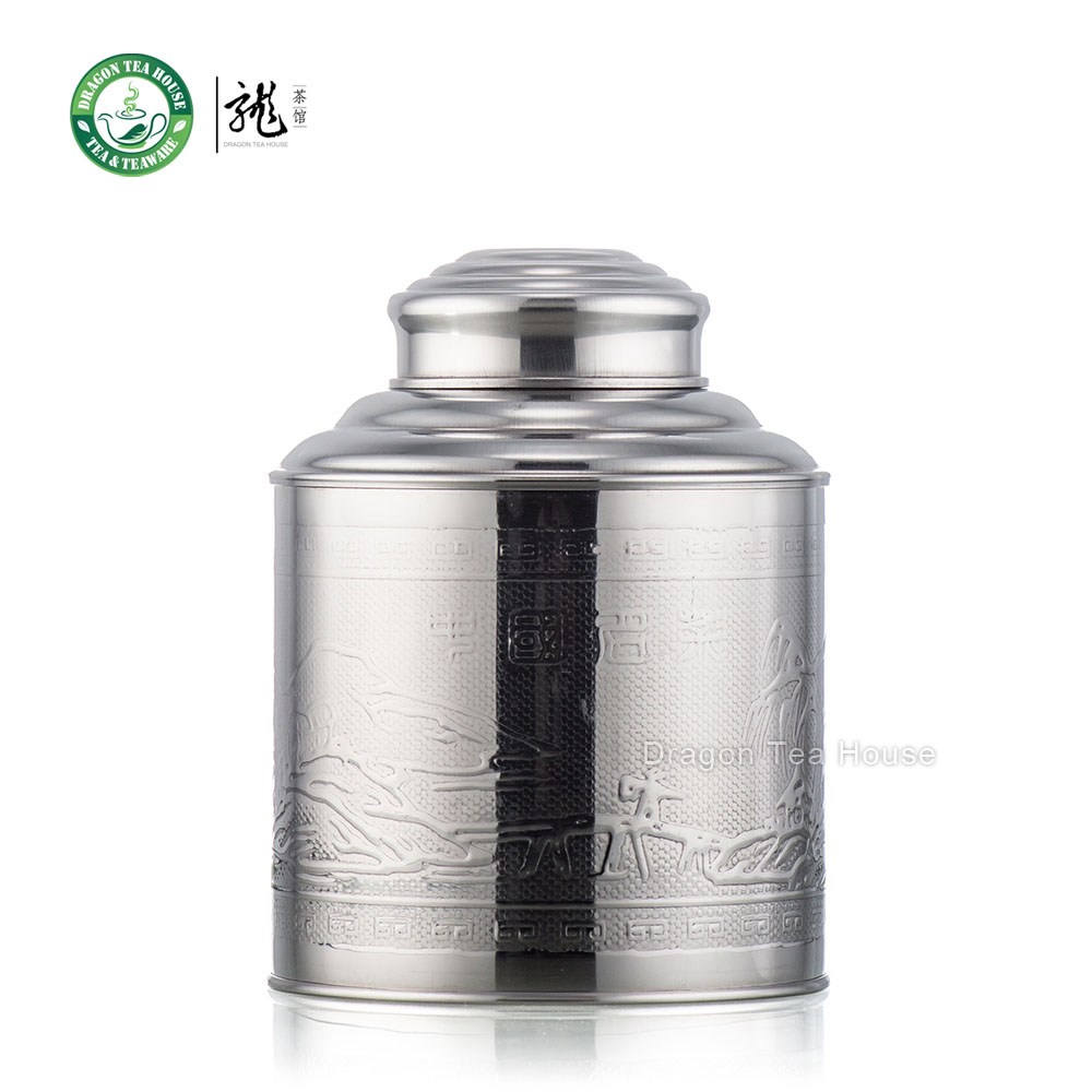Medium Size Stainless Steel Canister Caddy Tea Container With Double Lid 1000ml