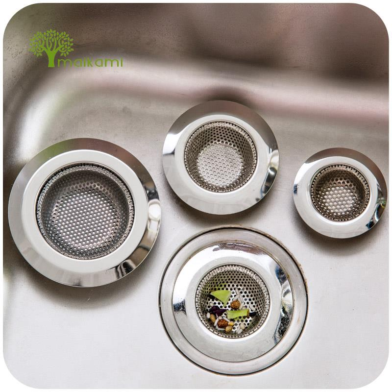 Three Size Stainless Steel Bathtub Hair Catcher Stopper Shower Drain Hole Filter Trap Metal Sink Strainer