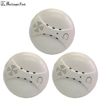 цена на 3pcs 433MHz Wireless Fire Protection Smoke Detector Portable Alarm Sensors For Home Security Alarm System