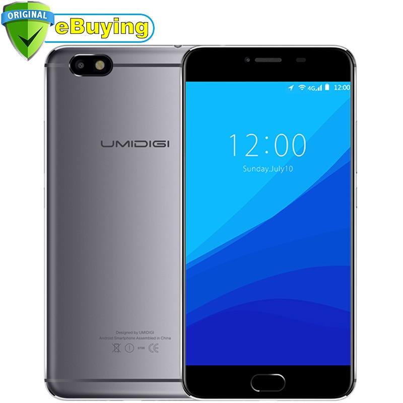 "Umi Umidigi C Note Android 7.0 Smartphone MTK6737 Quad Core 3G RAM 32G ROM 3800mAh 5.5"" 1920x1080P 13MP Unlocked 4G Mobile Phone"