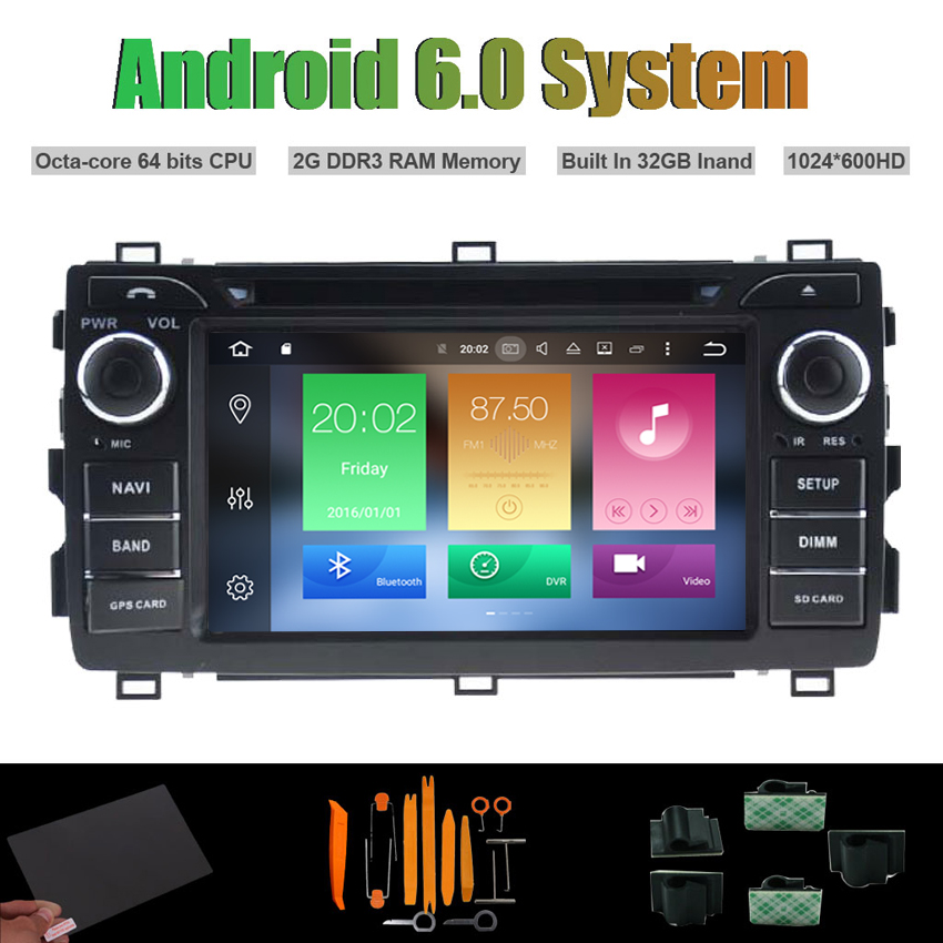 Android 6 0 Octa core CAR DVD PLAYER for TOYOTA AURIS 2013 WIFI 2G RAM 32GB