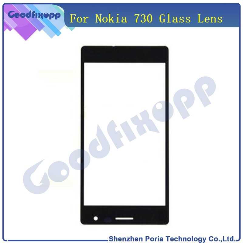 لمس الشاشة الأمامية الخارجي زجاج عدسة ل نوكيا lumia 730 735 استبدال أجزاء شاشة lcd أمامية لنوكيا 735 730 زجاج عدسة