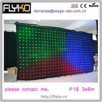 Frete grátis display led full color vídeo / vídeo cortina de pano|video curtain|led cloth|led video cloth -