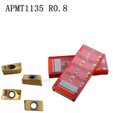 20PCS cnc carbide inserts APMT1135 PDER DP5320 milling inserts tool for stainless steel and steel Use BAP300R Milling cutter