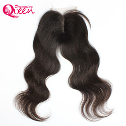Brazilian body wave lace closure free part remy hair closure with bady hair swiss lace bleached.jpg 250x250