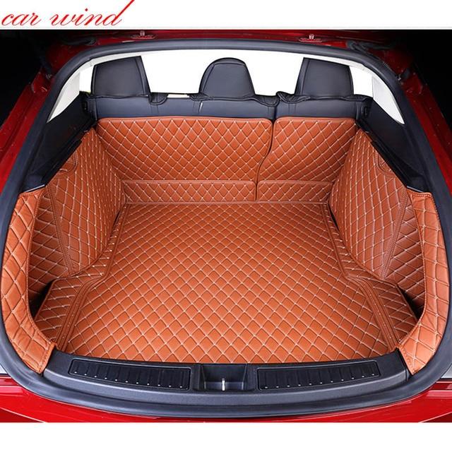 US $188 0 |Car wind Custom car trunk mat For tesla model s 2014 2016 Cargo  Liner Interior Accessories Carpet car styling Foot mat on Aliexpress com |