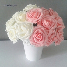 5pcs/lot Multicolor PE Foam Flowers Artificial Rose Flower Wedding Bridal Bouquet Home Decor DIY Scrapbooking Supplies