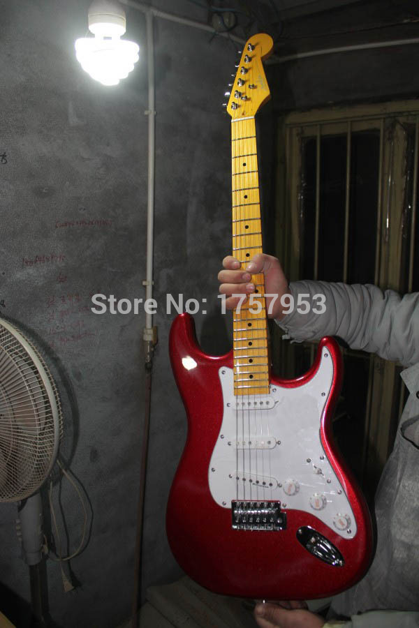 Factory custom shop 2017 Newest Custom Candy Apple Red ST electric guitar Free shipping (HAI 4 stratocaster