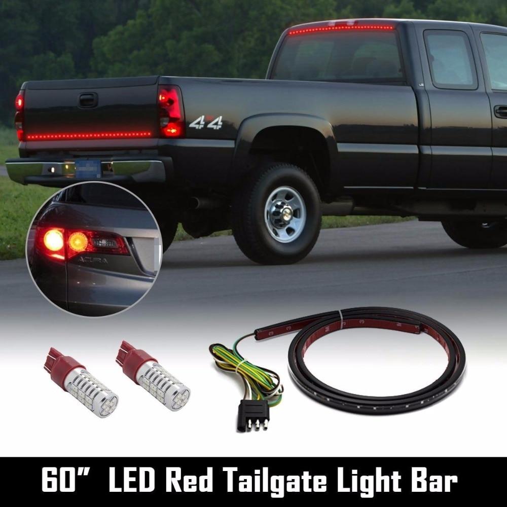 Barra de luz LED roja Universal para puerta trasera 60