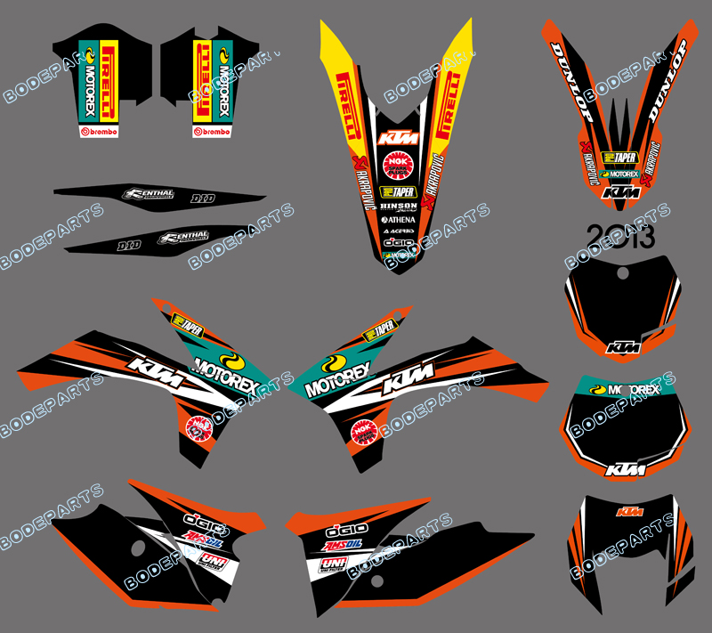 Dirt Motor bike Motorcycle Kit SX EXC Decal Sticker Graphics For KTM Motorcycle SX EXC 2011