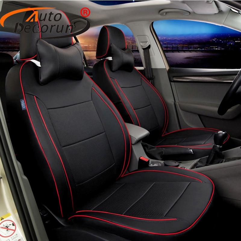 AutoDecorun Custom Fit Car Seat Cover PU Leather For