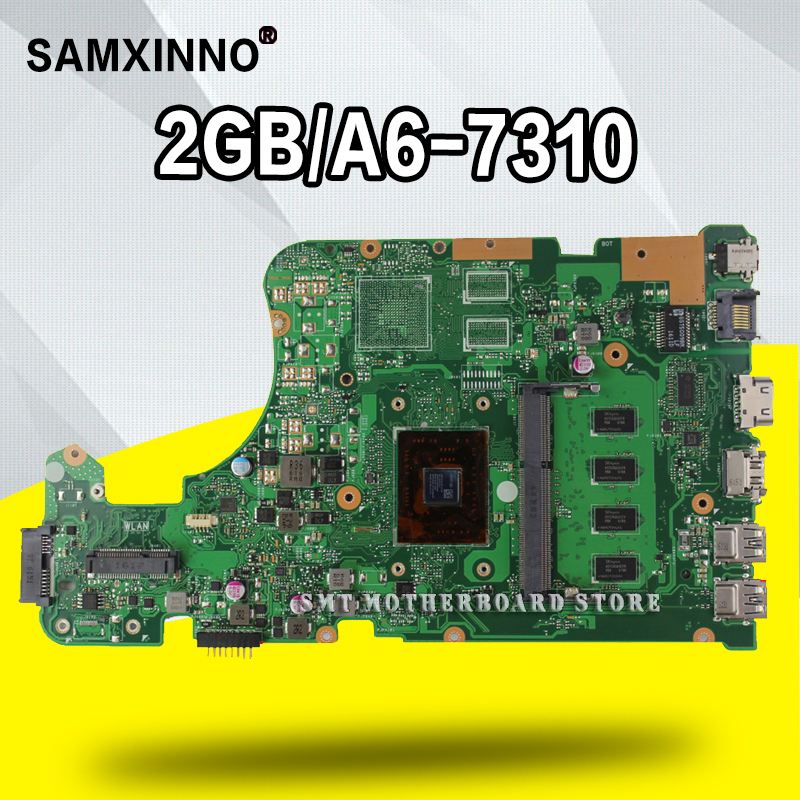 X555YA motherboard 2G A6-7310 For ASUS X555DG X555YA X555Y laptop motherboard X555YA mainboard X555Yi motherboard test 100% okX555YA motherboard 2G A6-7310 For ASUS X555DG X555YA X555Y laptop motherboard X555YA mainboard X555Yi motherboard test 100% ok
