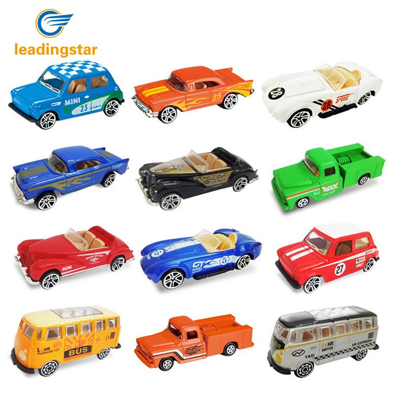 LeadingStar 4pcs/set Diecast 1: 64 Ratio Alloy Model Car Vehicle Toy for Kids Children Boys Xmas Gift zk30