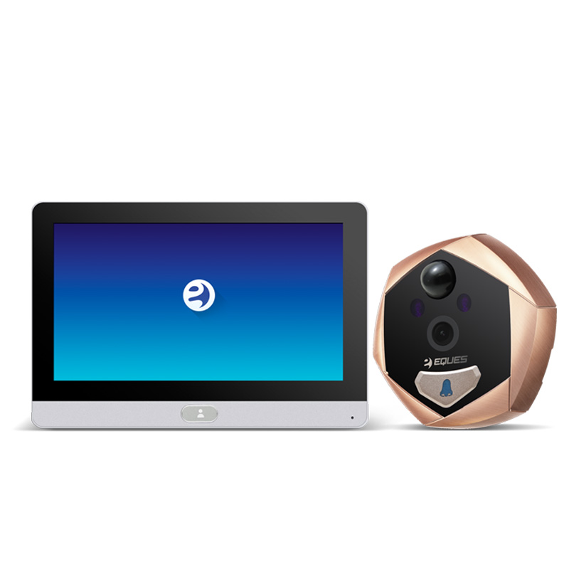 Eques Digital Door Peephole Viewer Camera Night Vision Smart Home Door Viewer Doorbell with Intercom Wifi