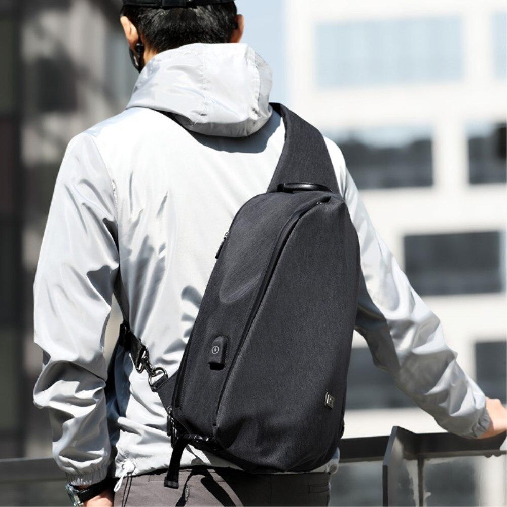 ZZINNA une épaule sac à dos pour hommes poitrine sac à dos homme de sac d'épaule 13