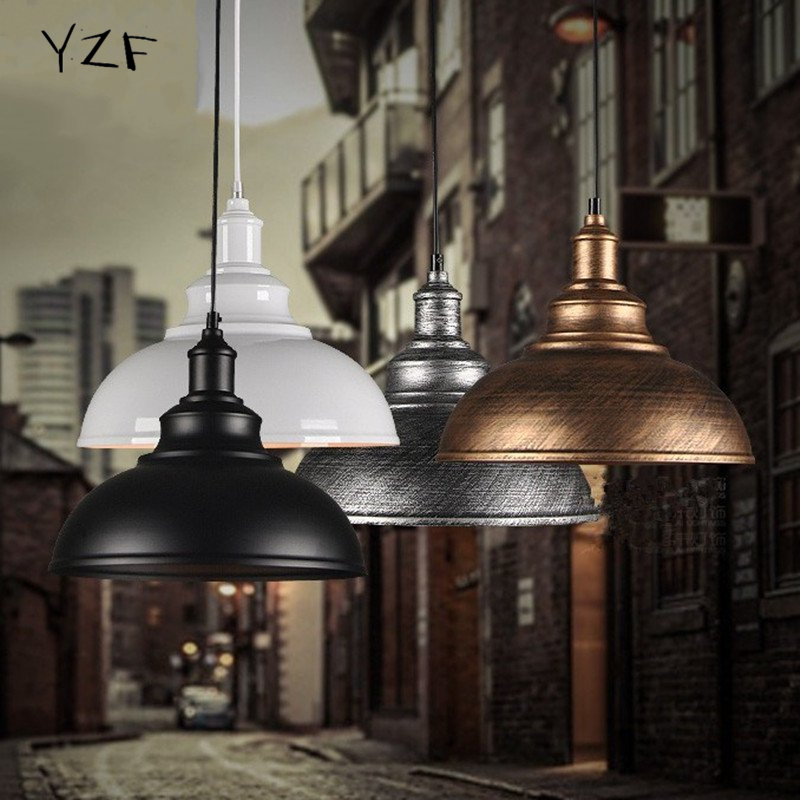 ФОТО YZF New E27 Vintage retro pendant light Industrial parlor Dining Room Restaurant Simplicity  Iron Black Bronze pendant light