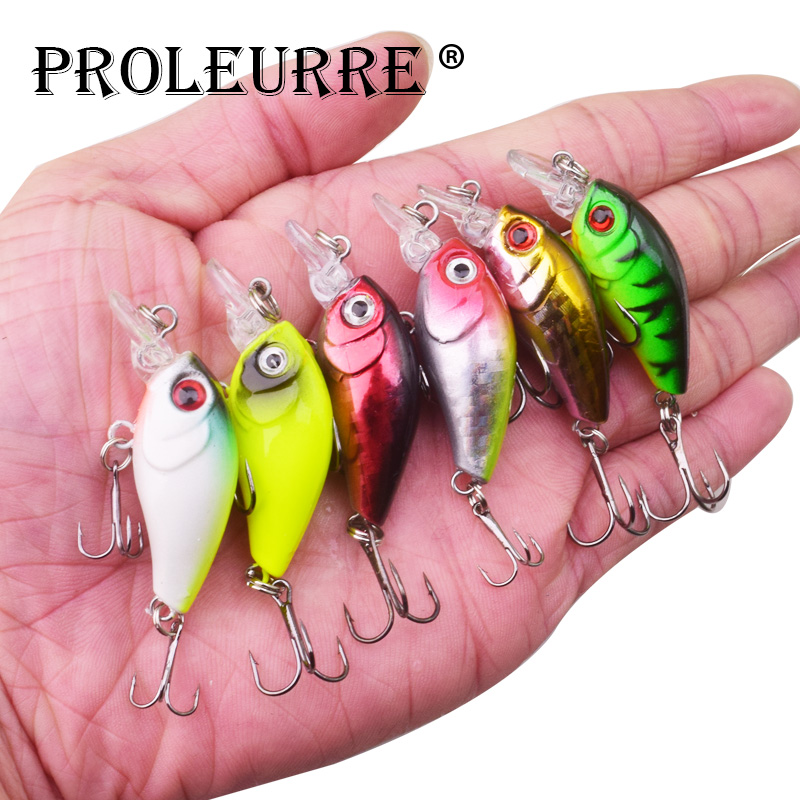 Proleurre 45mm 3.6g Crankbait Fishing Lure Artificial Hard Crank Bait Bass Fishing Wobblers Japan Topwater Minnow Fish Lures