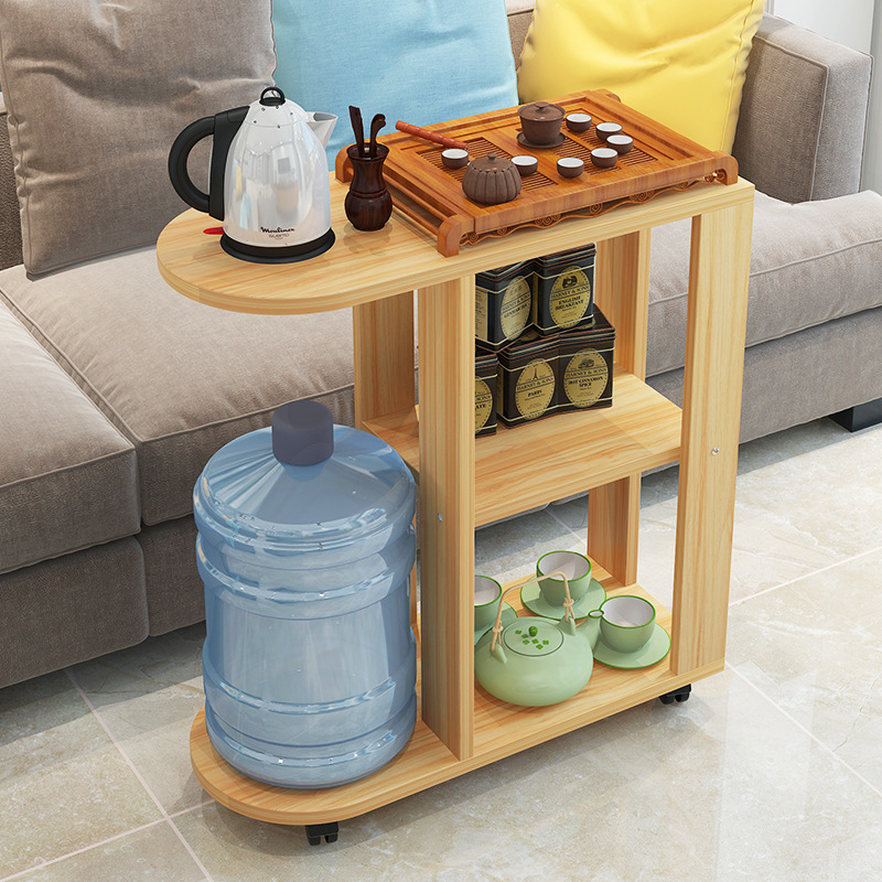 Side Table With Storage.Small Simple Coffee Table Modern Living Room Storage Rack