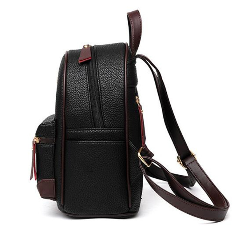 Fashion Leather Women Backpack Mini Lady Red Backpacks Cute Casual Shoulder  School Bags For Teenage Girls Sweet Small Female Bag-in Backpacks from  Luggage ... 1d33831ab2e54