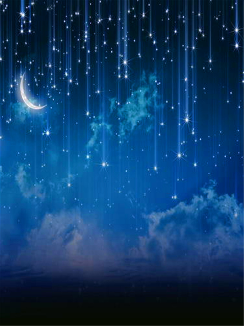 12ft vinyl moon night sky stars photography backdrops for newborn children photo studio portrait - Images night sky and stars ...