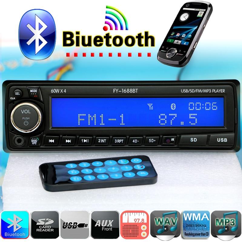 12 V Del Coche de Bluetooth Reproductor de Radio Estéreo FM de Audio MP3 USB SD