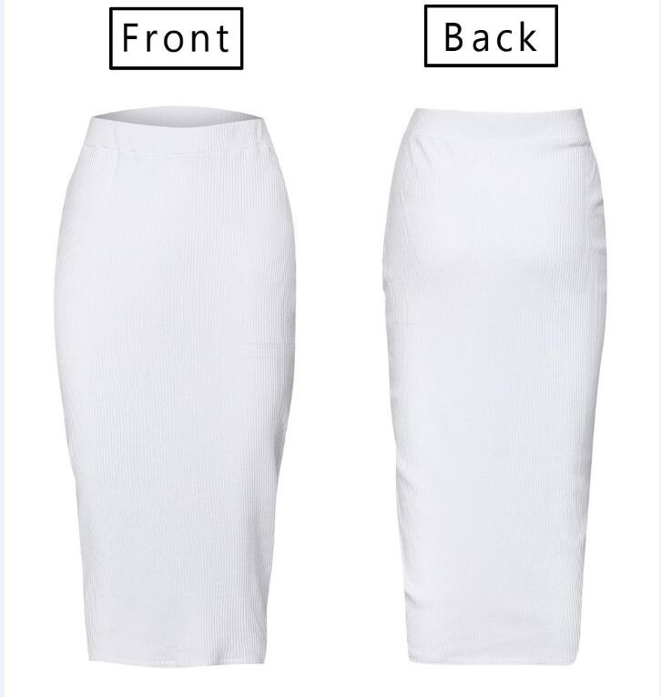 2018 Slim Pencil Maxi Skirt Women Sexy Bodycon Party Skirt White Black Ladies Hight Waist Elastic Tight Club Pencil Long Skirt in Skirts from Women 39 s Clothing